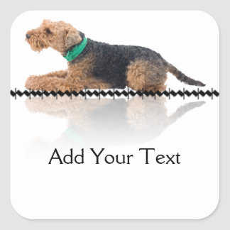 Brown and Black Welsh Terrier Sticker