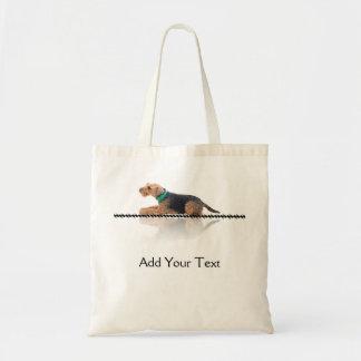 Brown and Black Welsh Terrier Totebag Tote Bags
