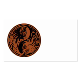 Brown and Black Yin Yang Cats Business Card