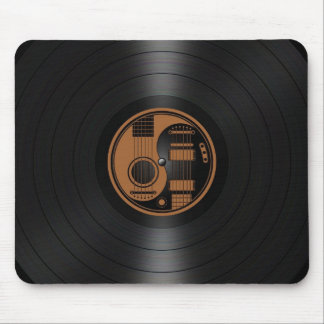 Brown and Black Yin Yang Guitars Vinyl Graphic Mouse Pad