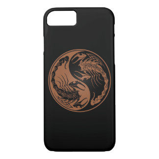 Brown and Black Yin Yang Scorpions iPhone 8/7 Case