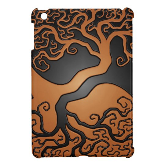 Brown and Black Yin Yang Tree iPad Mini Cover