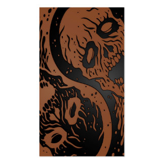 Brown and Black Yin Yang Zombies Business Card