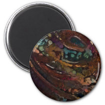 Brown And Blue Abstract Magnet
