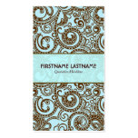 Brown And Blue Abstract Random Swirls Double-Sided Standard Business Cards (Pack Of 100)