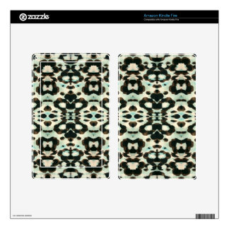 Brown And Blue Animal Print Skins For Kindle Fire