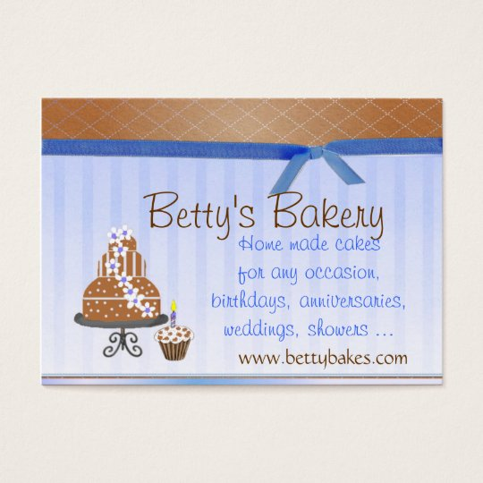 Brown and Blue Bakery Business Card