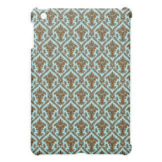 Brown And Blue Beautiful Pern Shading Design Case For The iPad Mini