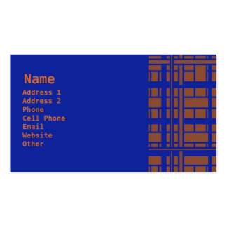 brown and blue Double-Sided standard business cards (Pack of 100)