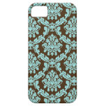 Brown and Blue Damask iPhone 5 Cover
