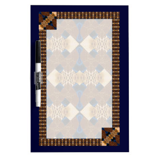 Brown and Blue Diamond Pattern Dry-Erase Board