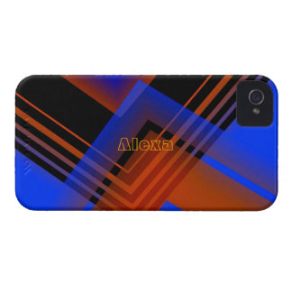Brown and Blue iPhone 4 case for Alexa