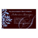 Brown and Blue Monogram S Designer Business Card