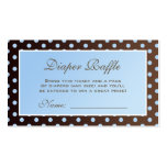 Brown and Blue Polka Dot Diaper Raffle Ticket Business Card