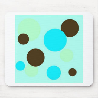 Brown and Blue Polkadots Mouse Pad