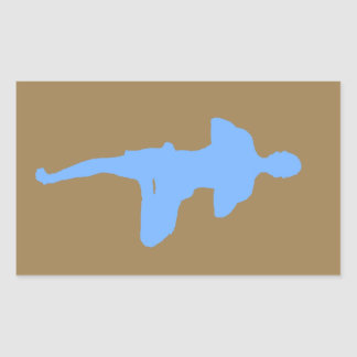 Brown and Blue Yoga Tree Pose Sticker