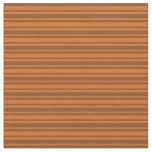[ Thumbnail: Brown and Chocolate Colored Lines/Stripes Pattern Fabric ]