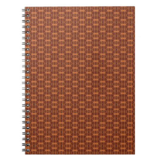 Brown and Copper Color Pattern Spiral Notebook.