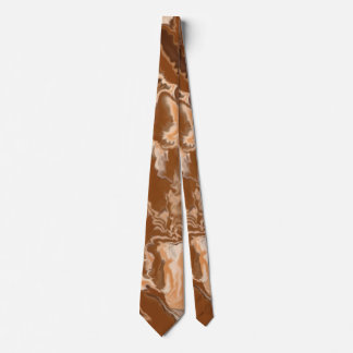 Brown and Cream Fractal Design Neck Tie