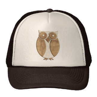 Brown and Cream Owl Hats
