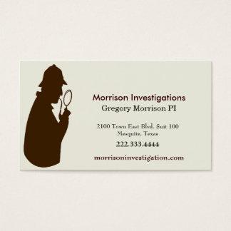 Brown and Cream Private Investigator Business Card