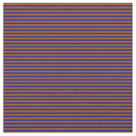 [ Thumbnail: Brown and Dark Blue Striped/Lined Pattern Fabric ]