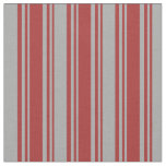 [ Thumbnail: Brown and Dark Gray Colored Stripes Pattern Fabric ]