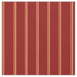 [ Thumbnail: Brown and Dark Red Colored Lined Pattern Fabric ]