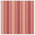 [ Thumbnail: Brown and Dark Salmon Colored Lined Pattern Fabric ]