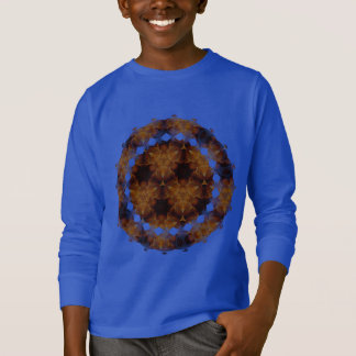 Brown and Gold Abstract Art Pattern T-Shirt