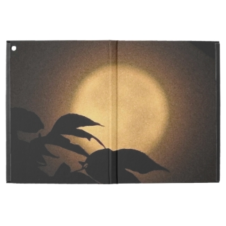Brown and Gold Autumn Moon iPad Pro Case