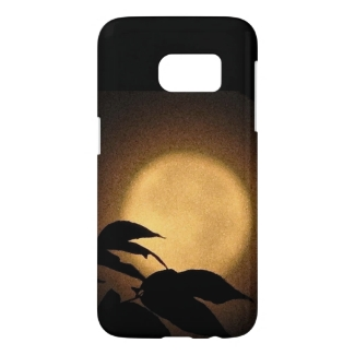 Brown and Gold Autumn Moon Samsung Galaxy S7 Case