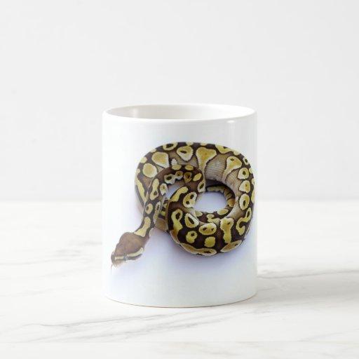 Brown and Gold Ball Python 2 Classic White Coffee Mug