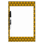 Brown and Gold Cross Pattern Dry Erase Whiteboards