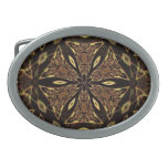 Brown And Gold Pattern Belt Buckles