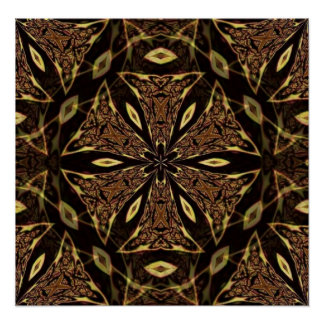 Brown And Gold Pattern Poster