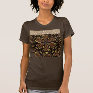 Brown And Gold Pattern T-Shirt