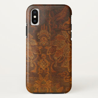 Brown And Gold Tapestry iPhone X Case