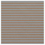 [ Thumbnail: Brown and Gray Colored Striped/Lined Pattern Fabric ]
