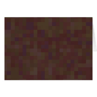 Brown and Green Abstract Pattern. Greeting Card