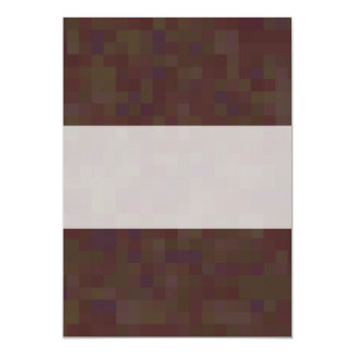 Brown and Green Abstract Pattern. 5x7 Paper Invitation Card