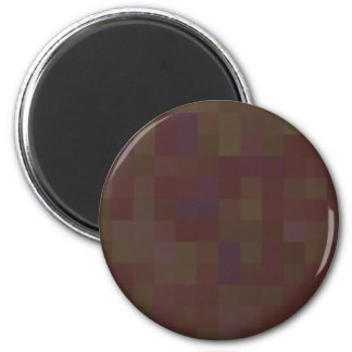 Brown and Green Abstract Pattern. Magnet