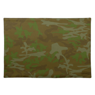Brown And Green Camo Pattern Placemats