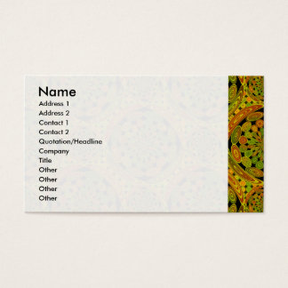 Brown and green circles business card