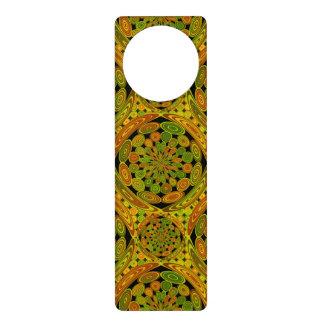 Brown and green circles door hanger