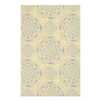 Brown and green circles stationery