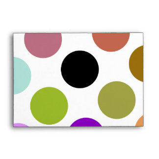 Brown And Green Colorful Dots Envelopes