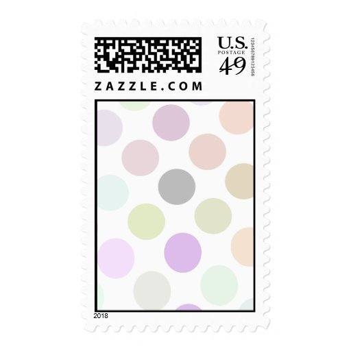Brown And Green Colorful Dots Postage Stamp