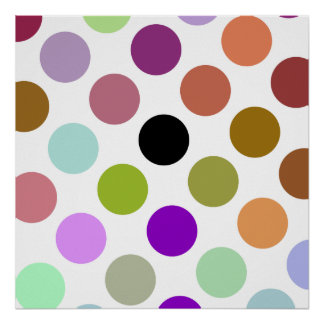 Brown And Green Colorful Dots Poster
