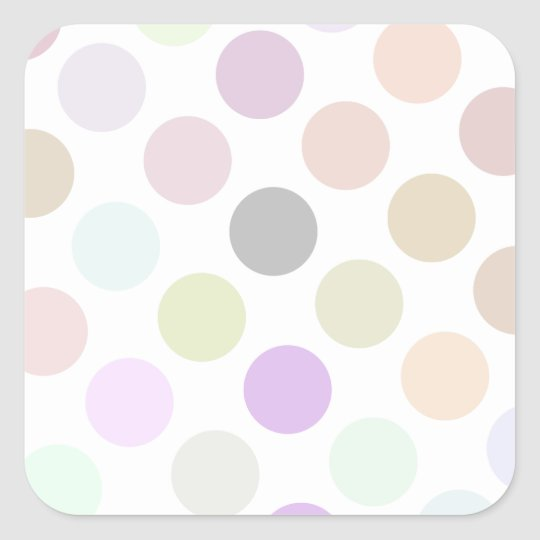 Brown And Green Colorful Dots Square Sticker